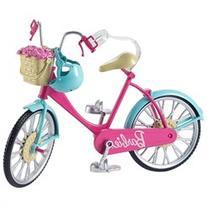 Barbie Bike in Pink with Teal Fenders Playset