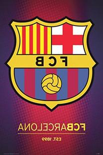"""Posterservice Barcelona Crest Poster, 24"""" X 36"""
