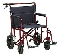 Drive Medical Bariatric Transport Chair with 12 Inches Rear
