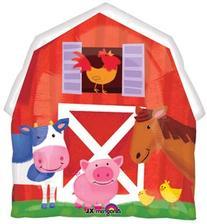 Barn Farm Animals Birthday Party Cow Horse Pig Balloons
