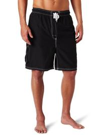 Kanu Surf Mens Barracuda Extended Size Trunk, Black, 3X