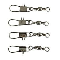 Eforstore 100 Pcs Barrel Bearing Swivel Solid Rings with