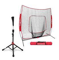 PowerNet Baseball Softball Practice Net 7x7 with Deluxe Tee