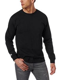 Russell Athletic Men's Basic Cotton Long Sleeve Tee, Black,