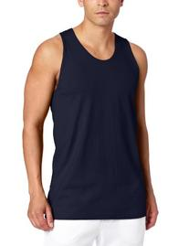 Russell Athletic Men's Basic Cotton Tank Top, Navy, 3X-Large