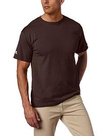 Russell Athletic Men's Basic T-Shirt, Seal Brown, Large