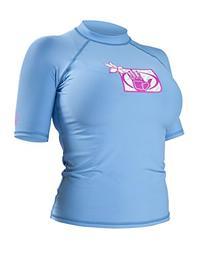 Body Glove Women's Basic Fitted Short Sleeve Rash Guard Tops