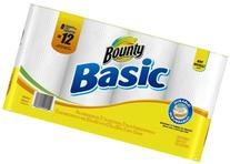 Bounty Basic Paper Towels Giant Roll, 8 ct