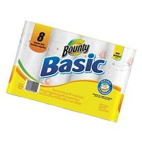 Bounty Basic Paper Towels, Prints, Regular Roll - 8 pk