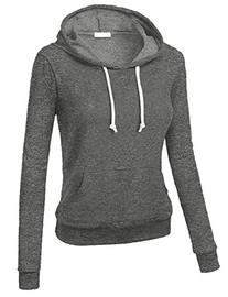 Emmalise Women's Basic Pullover French Terry Hoodie Kangaroo