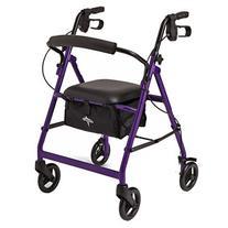 Medline Basic Rollator, Purple, 1 ea