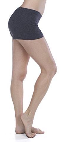 Women's Basic Soft Cotton Blend Yoga Dance Short Shorts