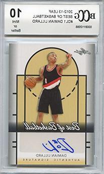 2012-13 leaf best of basketball #dl1 DAMIAN LILLARD auto