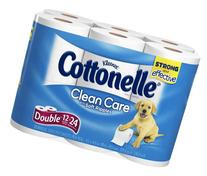 COTTONELLE BATH TISSUE TOILET PAPER CLEAN CARE 12 ROLLS