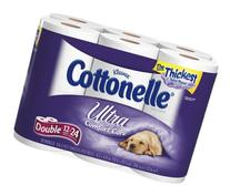 COTTONELLE BATH TISSUE TOILET PAPER ULTRA 12 DOUBLE ROLLS
