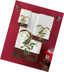 "Closeout! Lenox Bath Towels, Holiday Nouveau 16"" x 28"" Hand"