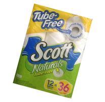 Scott Tube-Free Naturals Bathroom Tissue 12 Mega Rolls