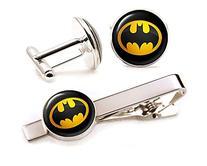 Batman Tie Clip, Batman Jewelry, Batman Cufflinks Cuff Links
