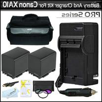 2 Pack Battery And Charger Bundle For Canon XA10