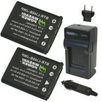 Wasabi Power Battery  and Charger for Fujifilm NP-45, NP-45A