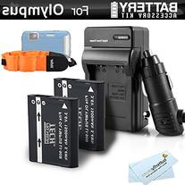 2 Pack Battery And Charger Kit Bundle For Olympus TOUGH TG-