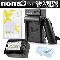 Battery And Charger Kit For Canon VIXIA HF R82, HF R80, HF