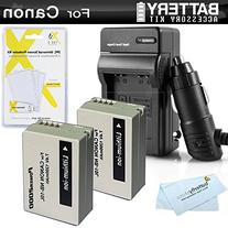 2 Pack Battery And Charger Kit For Canon PowerShot SX40 HS