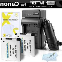 2 Pack Replacement NB-11L Battery And Charger Kit For Canon
