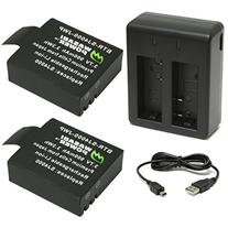 Wasabi Power Battery  and Dual Charger for SJ4000, SJ5000,