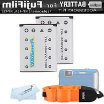 2 Pack Battery Kit For Fujifilm FinePix XP70, XP80, XP90,