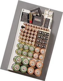 Battery Storage Rack Organizer Removable Tester Hold 66