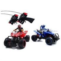 Jada Toys Battle Machines Radio Control Quad Bike - Blue/Red