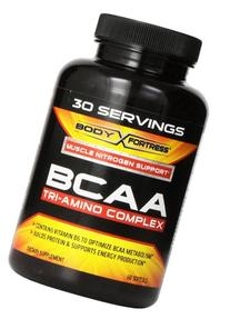 Body Fortress BCAA Tri-Amino Complex Softgels, 60 Count