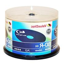 Value Disc BD-R 6X 25GB Blu-Ray 50 Pack Blank Discs in