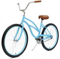 Critical Cycles Women's Beach Cruiser 1-Speed Bike, Light
