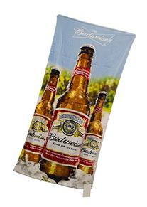 "Budweiser ""Blue Sky Bottles"" Beach Towel, 30 by 60"