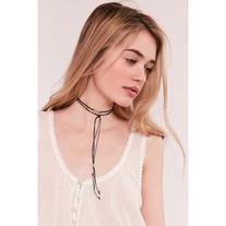 Beaded Wrap Choker Necklace