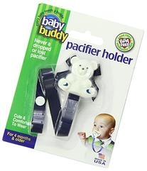 Baby Buddy Bear Pacifier Holder, Navy Blue, 2 Count