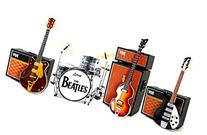 The Beatles Fab Four Miniature Guitar and Drums Set of 4