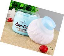 Baby Beauty Cosmetic Villus Powder Puff Sponge Makeup Box