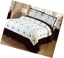 Fancy Linen 3pc Bedspread Quilted High Quality Bed Cover
