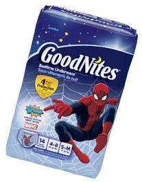 GoodNites Bedtime Underwear Marvel Boys S/M 14 CT