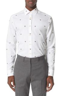 Men's Paul Smith Bee Shirt, Size 16 - White