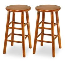 Winsome 24-Inch Commander Beveled Seat Counter Stool - Set