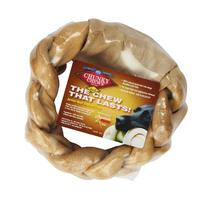 """Chunky Chews® 8"""" Beef Braided Rawhide Ring for Large Dogs"""