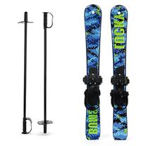 Lucky Bums Toddler Kids Beginner Snow Skis and Poles Set,