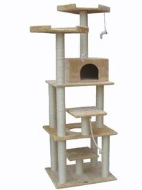 "Go Pet Club Beige 76"" Cat Tree F2070"