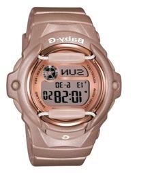 Baby-g Women's Digital Beige Resin Strap Watch 43x46mm