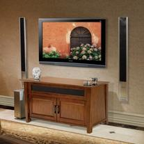Bello Audio Video Cabinet 52 Inch Caramel Brown WAVS326