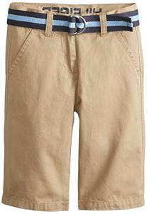 Tommy Hilfiger Big Boys' Belted Flat-Front Short, TH Chino,